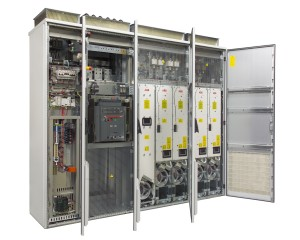 Cabinet-built regenerative drive